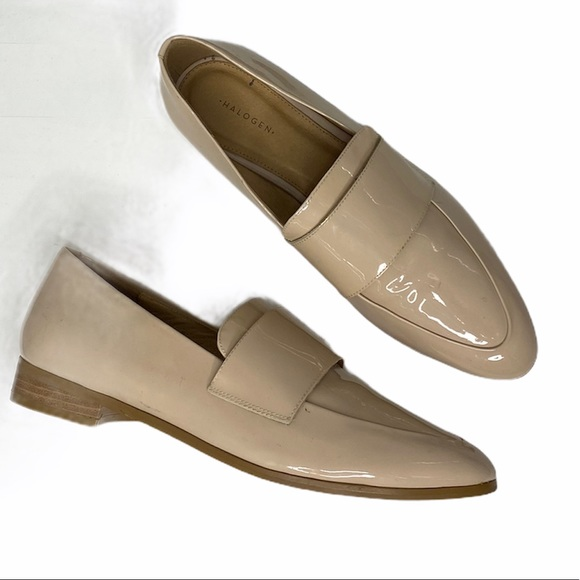 Halogen Nude Patent Leather Pointed Flats